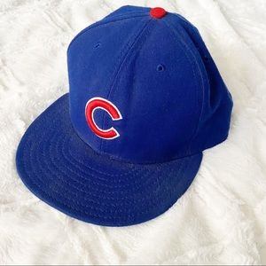 New Era Chicago Cubs Baseball Hat Flat Bill Blue
